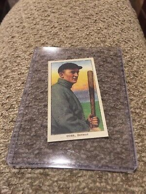 (TY COBB ) 1910 T206 Vintage Detroit Tigers King Tabacco Baseball Reprint Card