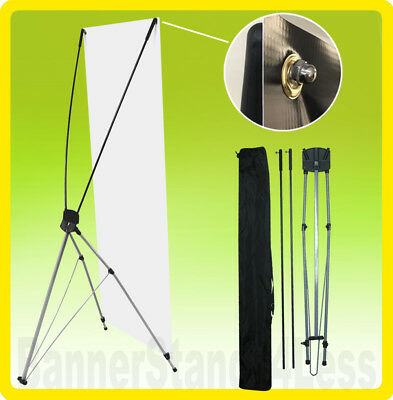2 PACK - 24x63 Tripod X Banner Stand Xstand Trade Show Sign Display (60x160)