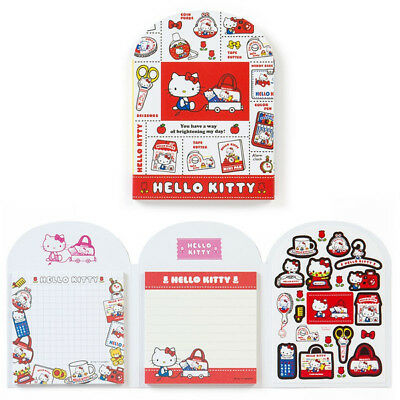 Hello Kitty memo With sticker (retro pop) Sanrio Made in Japan kawaii Cute F/S