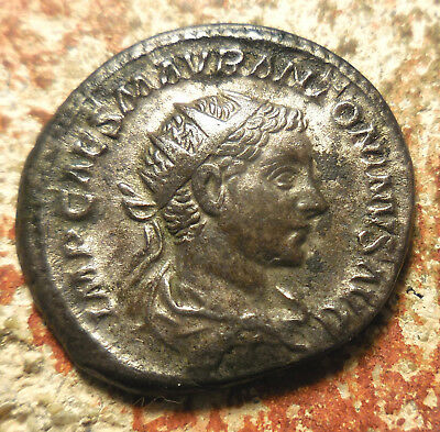 New from Austria NN 9/30/17 Auction, Elagabalus, Silver Antoninianus, 218-222 AD