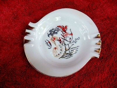 SMALL  PORCELAIN  UNBRANDED  FISH/ASHTRAY   15cm.