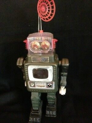 ALPS TELEVISION SPACE MAN S Late Model/1960's Tin Robot 37.5cm from Japan
