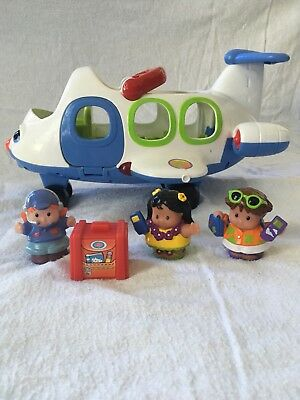 Fisher Price Little People Aeroplane And Passengers Lights And Sounds