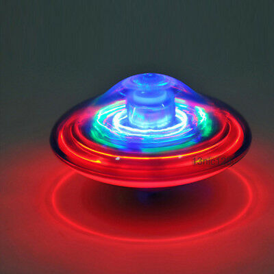 Vintage Kids UFO Spinning Top Light Up Flashing Laser Music Sound Tops Toy