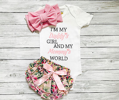 AU Newborn Baby Girls Short Sleeve  Romper Pants Shorts Headband Outfits Clothes