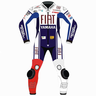 Yamaha Fiat Moto Gp Racing Motorcycle Motorbike Cowhide Leather Suit All Sizes