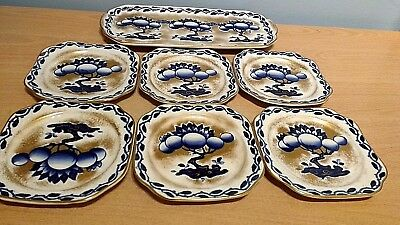 Keeling & Co Ltd Losol Ware Chandos Pattern #5416 Sandwich Set. Excellent Cond.