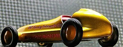 Tether Racer Vintage Midget Race Car GP F Indy 500 1 18 Carousel Gold Metal 12