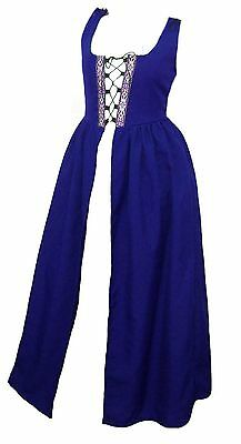 RENAISSANCE MEDIEVAL WENCH PEASANT BELLE HALLOWEEN COSTUME IRISH OVER DRESS Fd7S