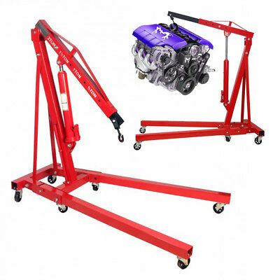 1 Ton Tonne Folding Hydraulic Engine Crane For Car Workshop Garage Stand Lift To