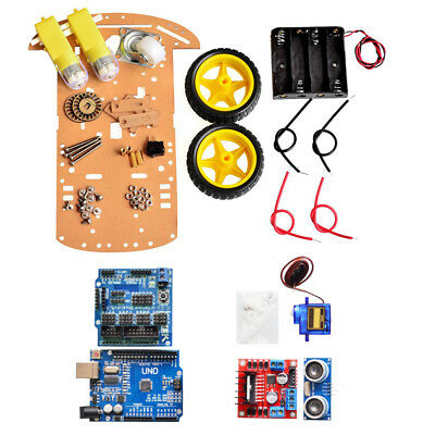 Avoid Tracking Motor Smart Robot Car Chassis 2WD Ultrasonic For Arduino Chip NEW