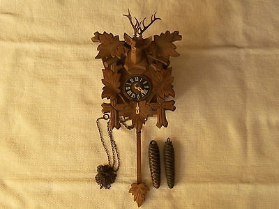 Collectible Vintage Cuckoo Clock From Germany
