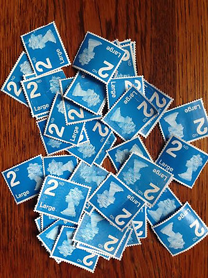 50 Second Class Large Letter No Gum Unfranked Stamps