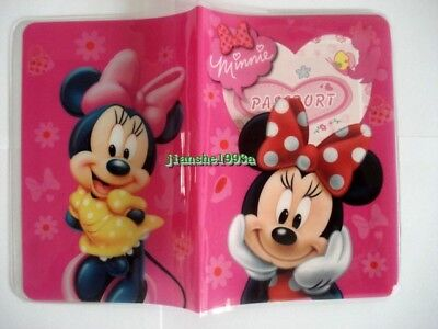 1 X Disney Minnie Mouse Girls Travel Passport Cover Case Protector Holder