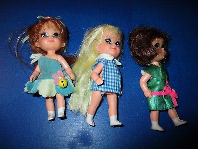 Skediddle Kiddles dolls Lot of 3: Harriet Helididdle, Suki, Sheila