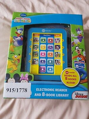 mickey mouse electronic reader with 8 books New