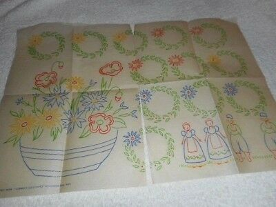 Vintage Embroidery Iron on Transfer-Woman's Illustated - Nov 1936 - Flowers