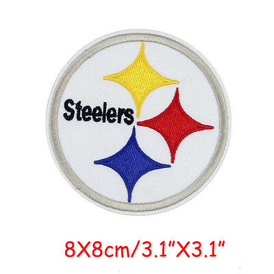 "NFL Pittsburgh Steelers Super Bowl Sport Embroidered Iron On Patch 3.1""X3.1"""