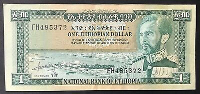 1 Dollar Banknote - Ethiopia - Africa - National Bank Of Ethiopia. (1384)