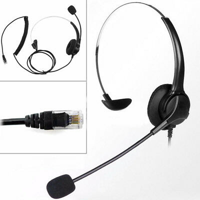 Call Center Office Phone Modular Telephone Headset RJ11 Voice Call Chat Headset