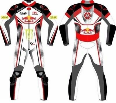 Red Bull Custom Made Motorbike Motorcycle Racing Leather Suit 1&2 Pcs Cow Hide