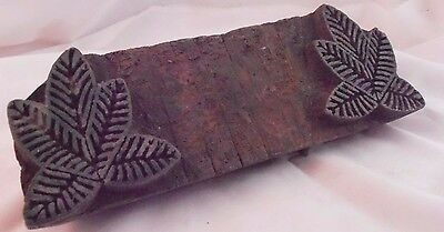 ANTIQUE indian CARVED WOODEN TEXTILE  PRINTING BLOCKS WOOD SCULPTURE TREEN
