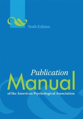 Publication Manual of the American Psychological A