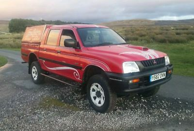Superb Driving 2001 Mitsubishi L200 Double Cab 4Wd Pickup In Red - Mot May 2018