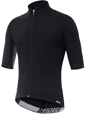 Santini Black 2017 Beta Light Wind Short Sleeved Cycling Jersey
