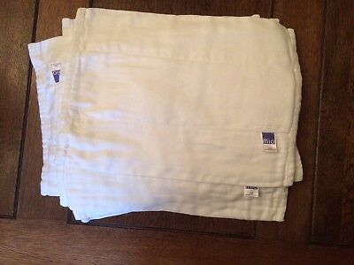 10 x Bambino Mio Nappies Size 1 Never Used Inserts Prefold Booster