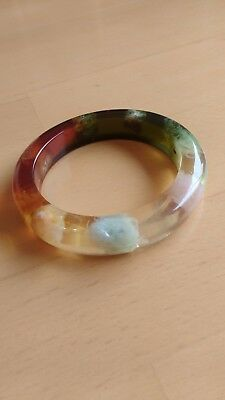 Vintage Chunky Bangle Multi Colour Lucite ?