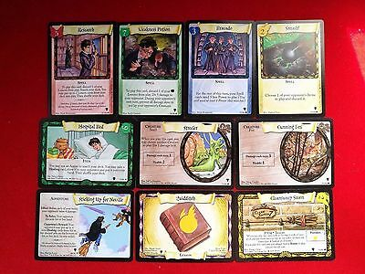 Lot Of 10 Harry Potter Trading Cards Game 2001 Mint Condition