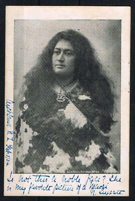 new zealand a maori 1904 used postcard to england