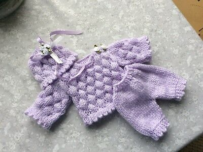 """Hand Knitted dolls clothes to fit 10"""" Ashton Drake, Reborn, Ooak"""