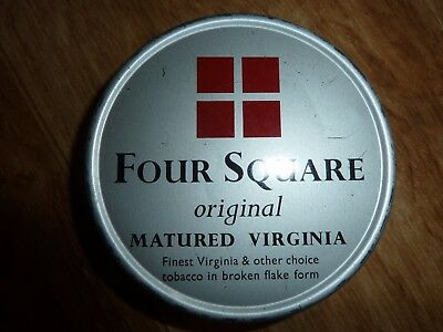 Four Square original matured virginia Tobacco Tin,