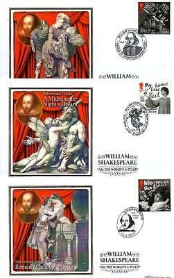 ALL 6 BENHAM BS1119-1124 WILLIAM SHAKESPEARE FDCS 12-4-11 each with SHS F11