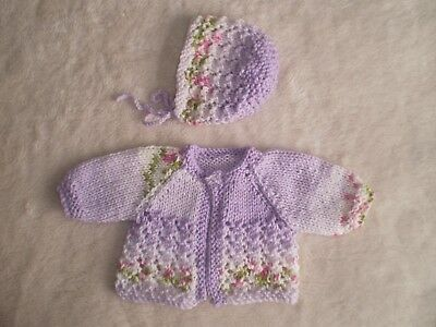 """Hand knitted dolls clothes for 13/15"""" Reborn/Preemie"""
