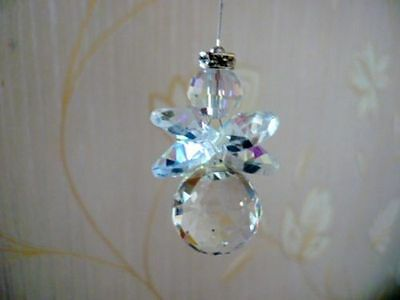 Beautiful Clear Crystal Ball Guardian Angel Protection Charm Suncatcher