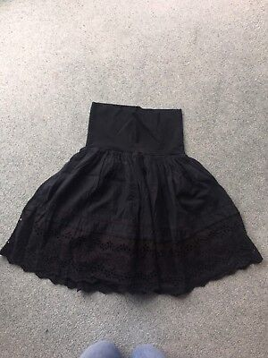 Red Herring Size 10 Over The Bump Navy Blue Skirt
