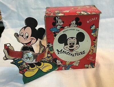 Circa 1960's Walt Disney Mickey Mouse Watch with Box and Stand