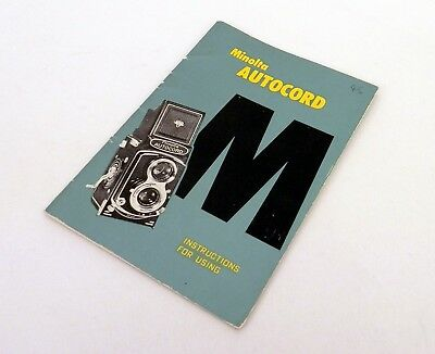 Vintage Minolta Autocord Instruction Manual :FREE UK POST: #1781