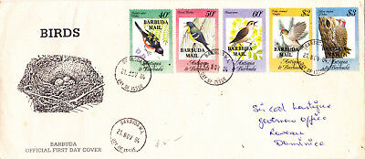"Barbuda F D C 1984 Songbirds - Antigua & Barbuda Overprinted ""BARBUDA MAIL"""