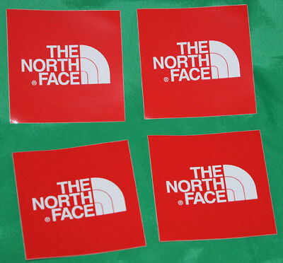 Four North Face stickers