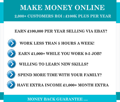 Make Money In 24 Hours | £100+ Sale | 1-2 Hours Work Week | Guaranteed Income
