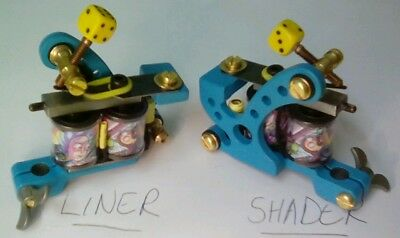 Pro handmade tattoo machine pair liner and shader rick and morty