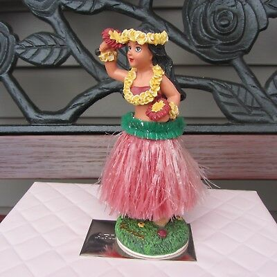 Vintage Hawaiian Hula Dancer w Uli Uli  Dashboard Bobblehead C.K.C. Co. Ltd.