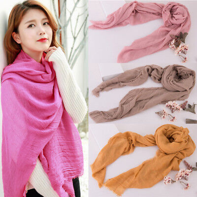 Women Soft Pashmina Silk Classic Solid Cashmere Wool Shawl Scarf Stole Wrap NEW