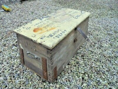 Antique Pine Box With Candle Box Inside For Restoration From House Clearance