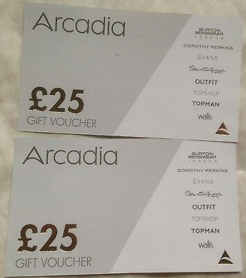 CHRISTMAS OFFER!  Arcadia Vouchers to value of £50.