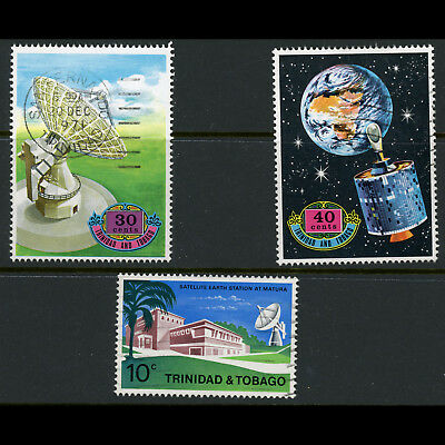 TRINIDAD & TOBAGO 1971 Earth Station. Space. SG 403-405. Fine Used. (AT346)